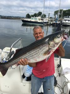 Mark Hiller -striped bass july 8 at cove 40lbs 2oz